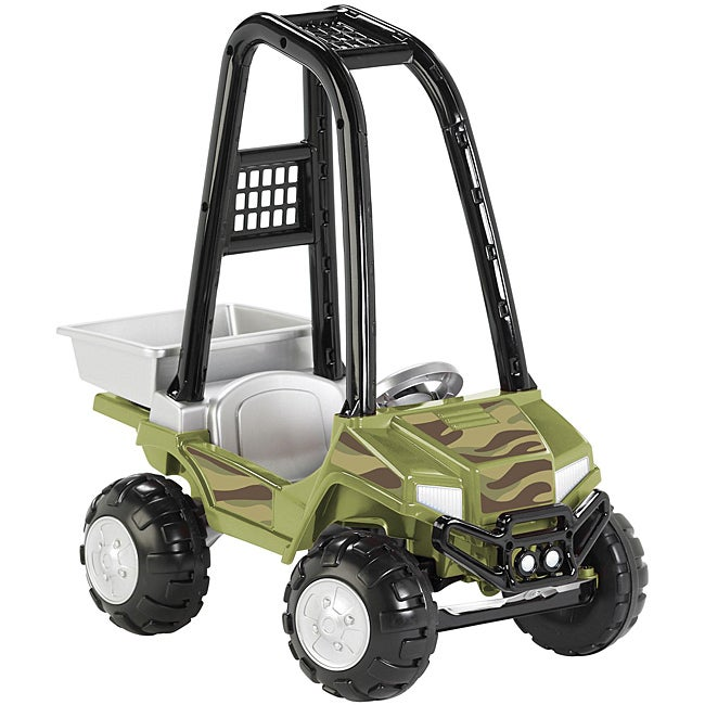 American Plastic Toys ATV Camo Utility Ride-on Scooter
