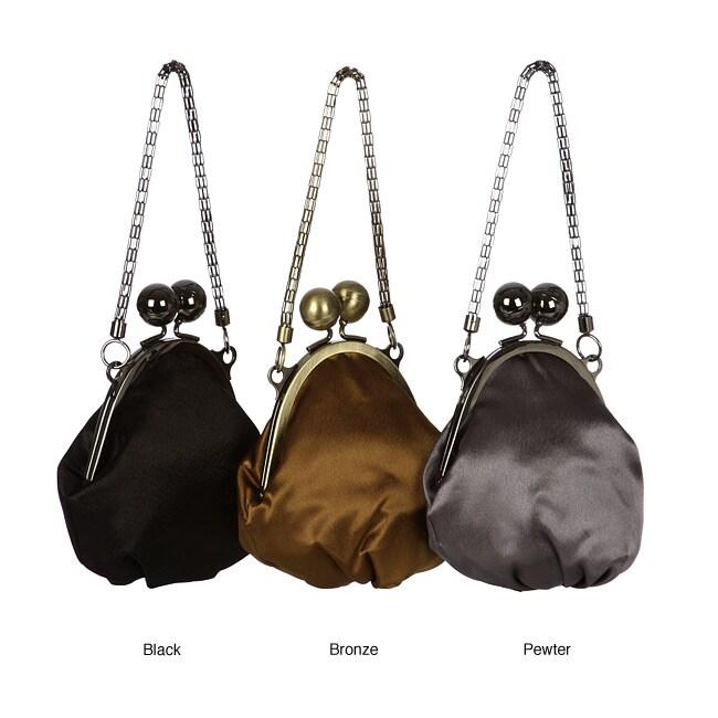 Jessica McClintock Large Kiss Lock Oval Frame Evening Bag