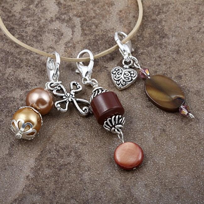 Fashion Forward Jewel-tone Charms (Set of 3)