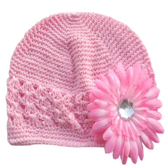 Pink Hat and Pink Flower Hairpiece