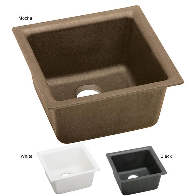 Elkay ELG1515 E-granite 15.75x15.75-in Single-bowl Universal-mount Sink