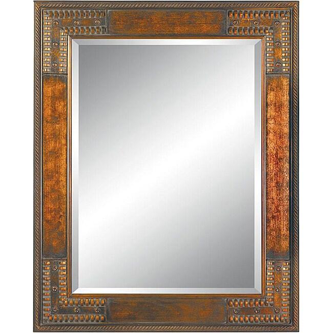 Shop Rectangular 36x48 Framed Cherry Gold Wall Mirror Free