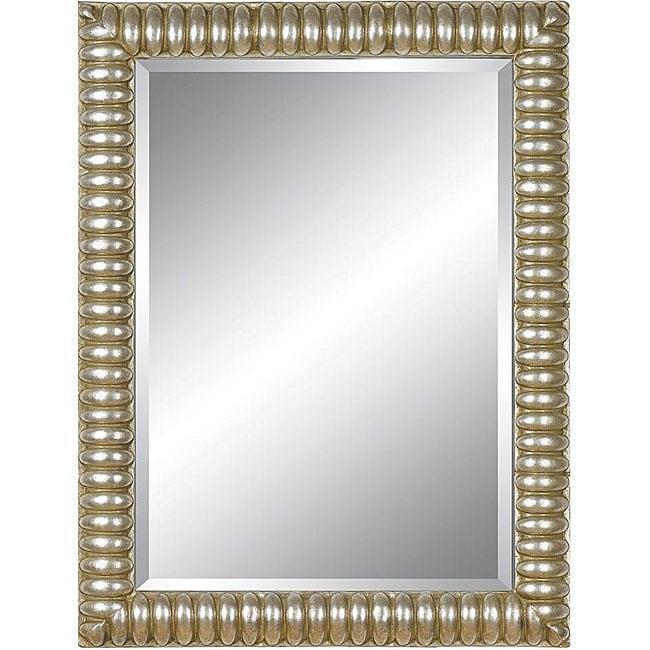 Rectangular 36x48 Framed Silver Mirror