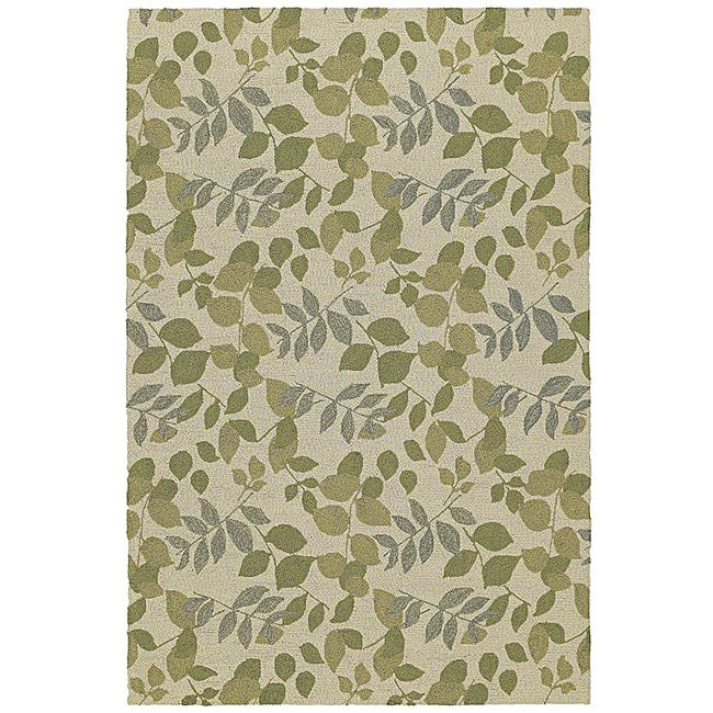 Home and Porch Indoor/ Outdoor Ivory Rug (2' x6')