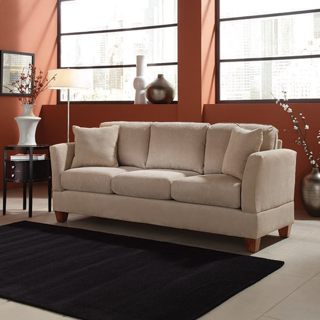 Microfiber 80 inch small space sofa free shipping today for 80 inch couch