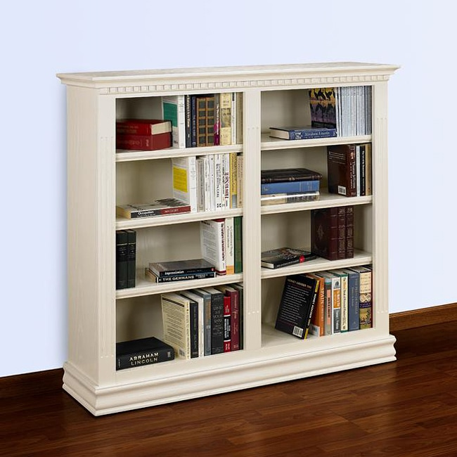 Hampton 48 X 48 Double Wide Pearl White Bookcase Free