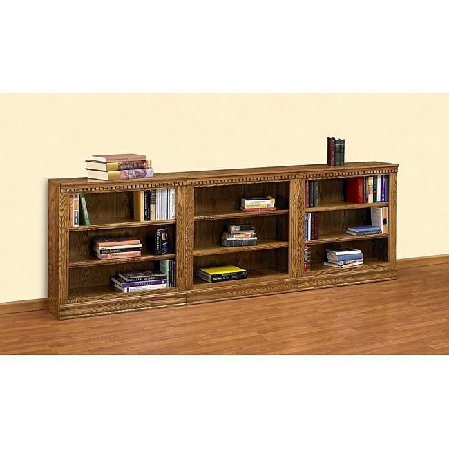 Oak 3-piece Short Bookcase