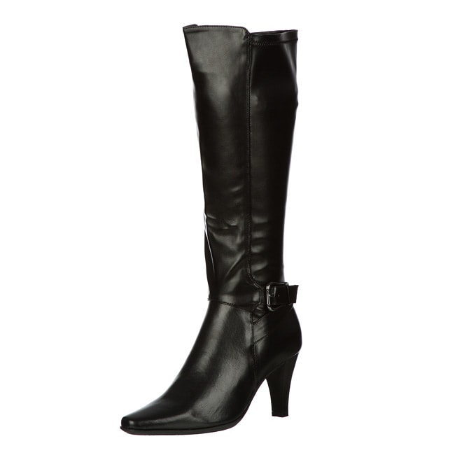 Sam & Libby Women's 'Newwave3' Tall Shaft Stretch Dress Buckle Boot