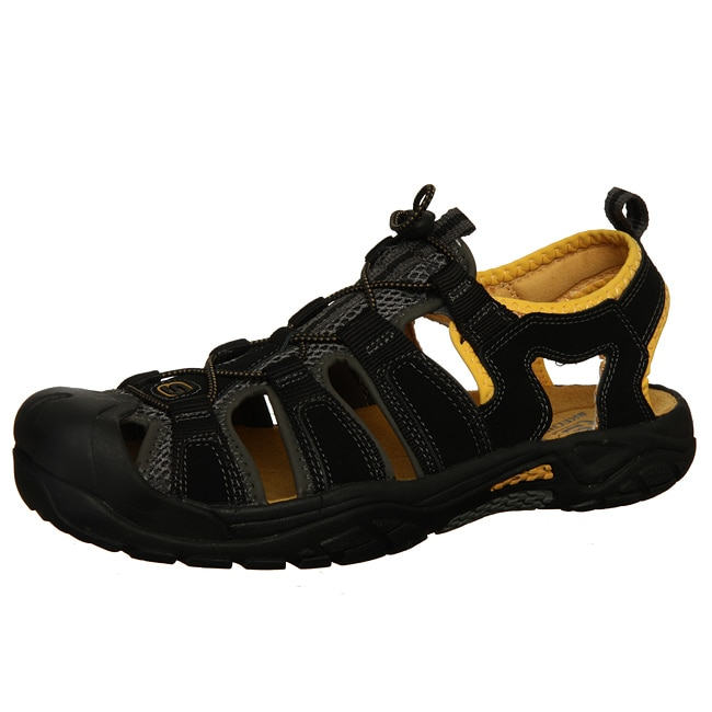 6a597aabd022 Shop Skechers Men s Black  Gold  Safaris  Sport Trail and Water Fisherman  Sandals - Free Shipping On Orders Over  45 - Overstock - 5286198