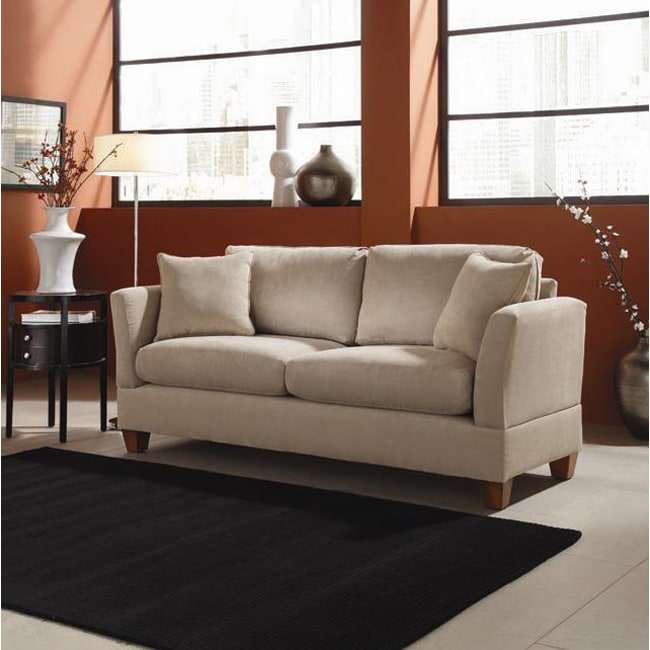 Microfiber midsize small space 74 inch sofa free for Sofa bed 74 inches