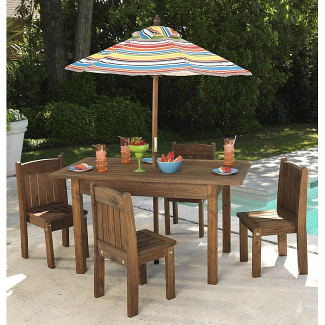 Shop KidKraft Children's Oudoor Umbrella Furniture Set ...