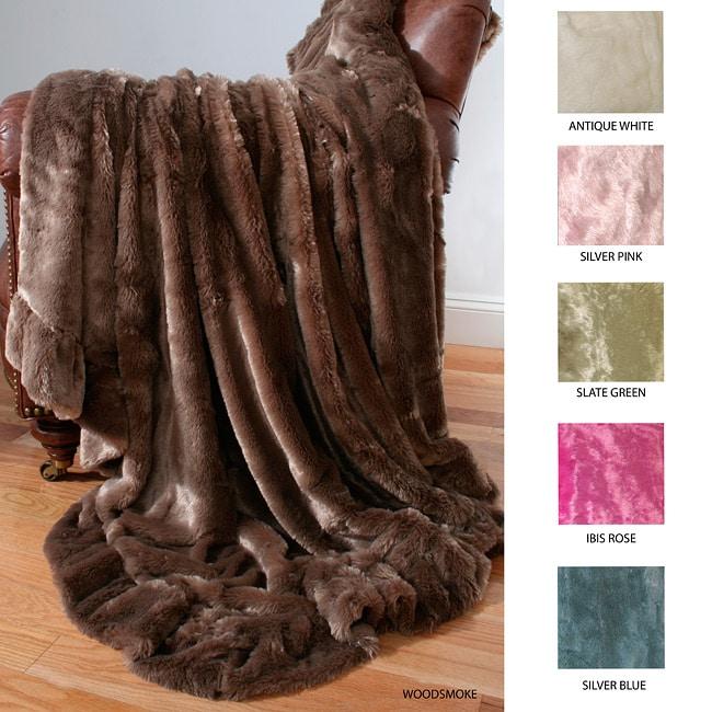 Jessica Faux Fur Ruffle Throw Blanket