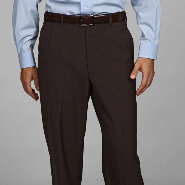 Austin Reed Men S Brown Flat Front Dress Pants Free