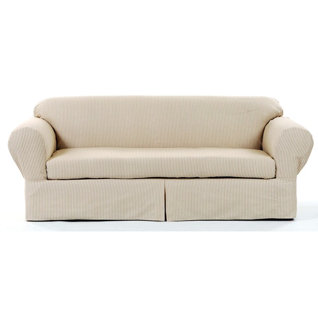 Ticking Stripe 2-piece Sofa Slipcover
