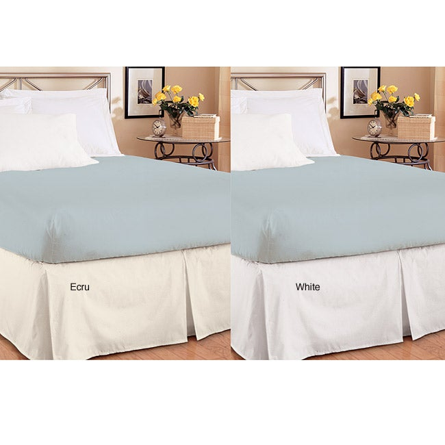 Queen-size Easy On/ Off Box Pleated Bedskirt