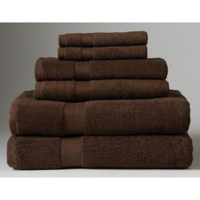 Turkish Organic Cotton Chocolate 6-piece Towel Set
