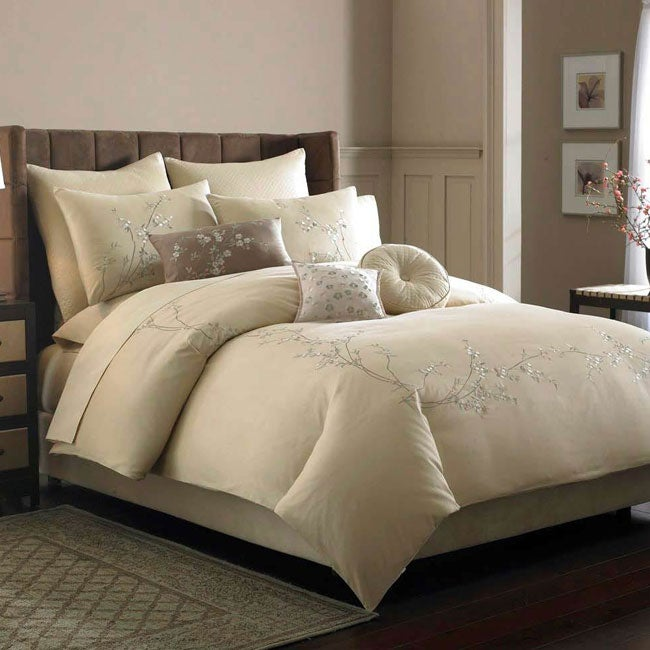 Plum Blossom King-size Cotton Duvet Cover