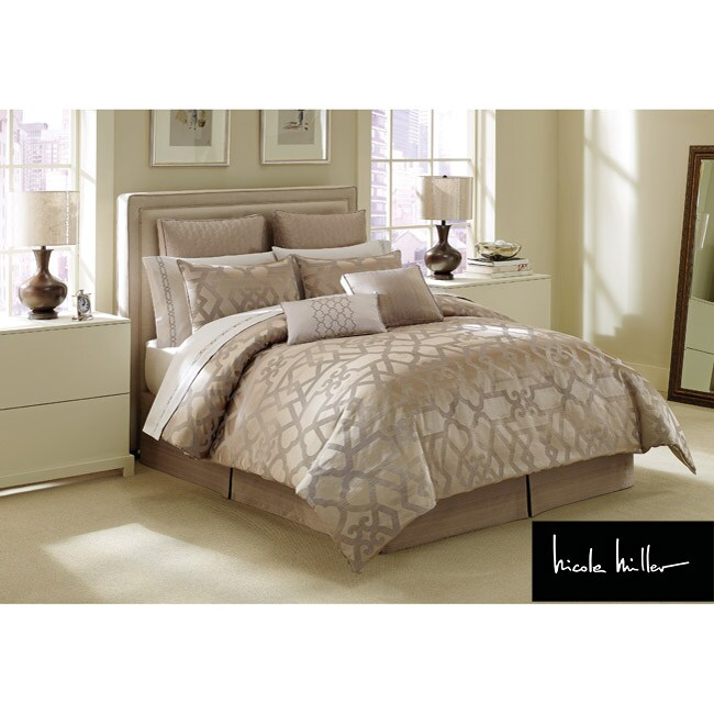 nicole miller king comforter set Shop Nicole Miller Gate California King size Comforter Set   Free  nicole miller king comforter set