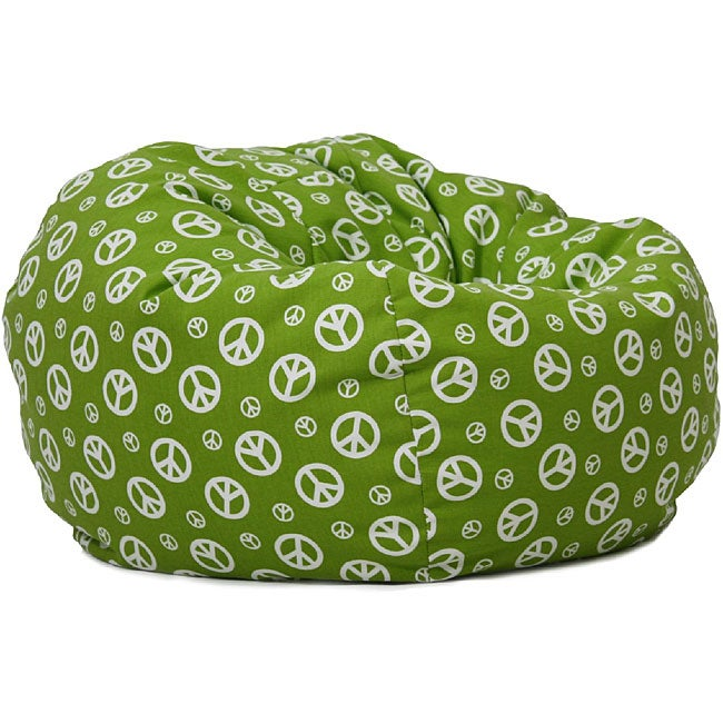 Shop Beansack Peace Sign Green Bean Bag Chair Free
