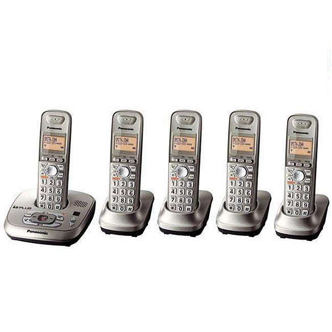 Panasonic KX-TG4025N DECT 6.0 PLUS Expandable Digital Cordless Answering System with 5 Handsets (Refurbished)