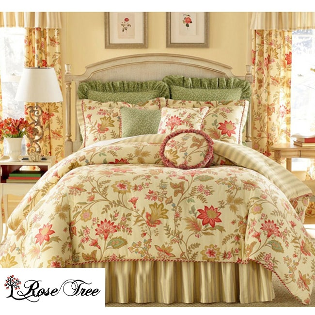 Rose Tree Pacific Floral Queen-size 4-piece Comforter Set