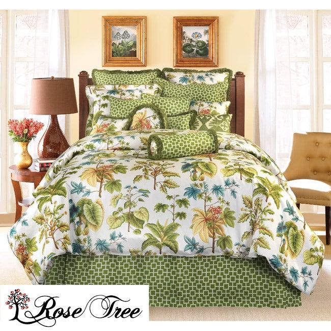 Rose Tree Caladium King-size Comforter Set
