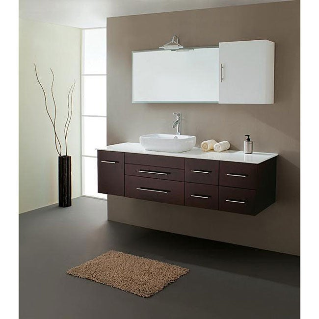 Gemini 59 Inch Modern Single Sink Vanity Set Free Shipping Today 13118758