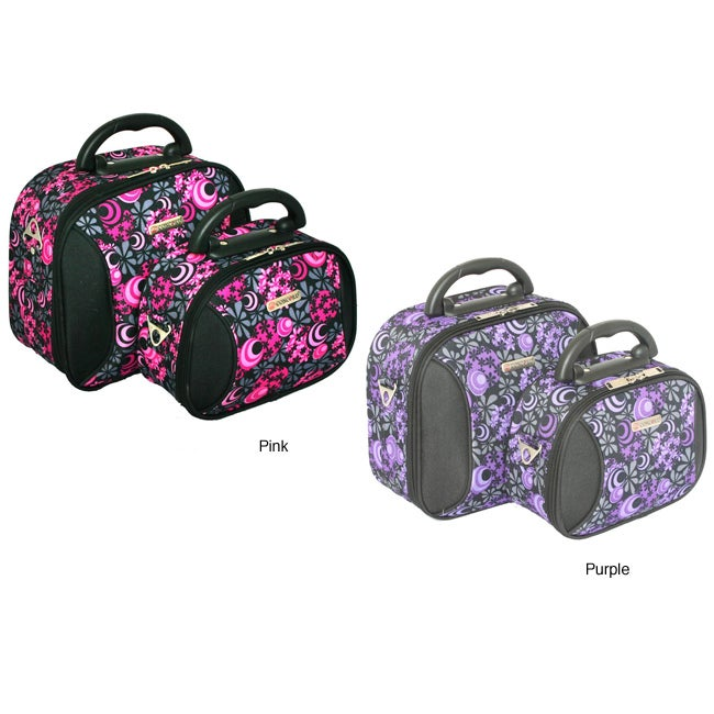 Concord Deluxe 2-Piece Cosmetic Bag and Travel Bag Set