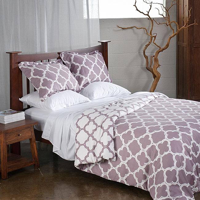 Shop Lyon Reversible Cotton King Size Duvet Cover Set Free