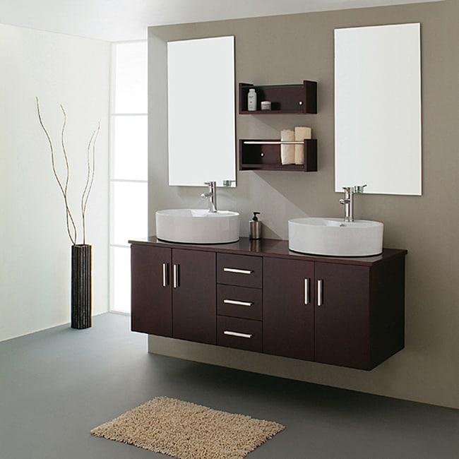 Gemini 59-inch Modern Double Sink Vanity Set