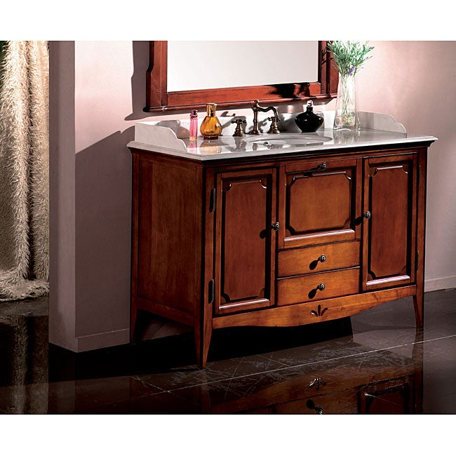 Shop Shannon 50 Inch Marble Single Vanity Free Shipping Today