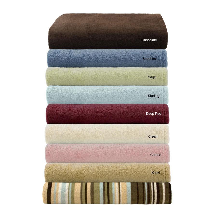 Soloft Microraschel Plush Blanket