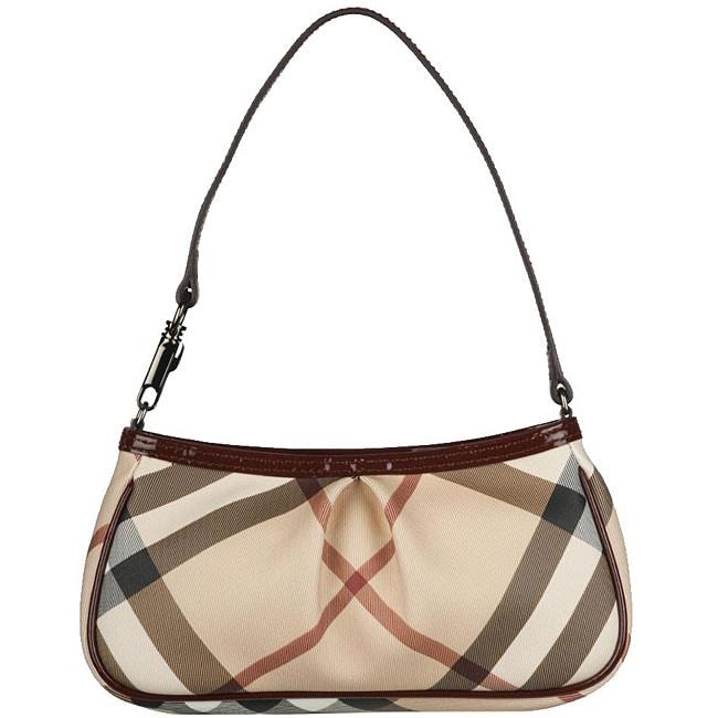 Shop Burberry Small Check Print Shoulder Bag - Free Shipping Today -  Overstock.com - 5318243 849c886f7e7a4