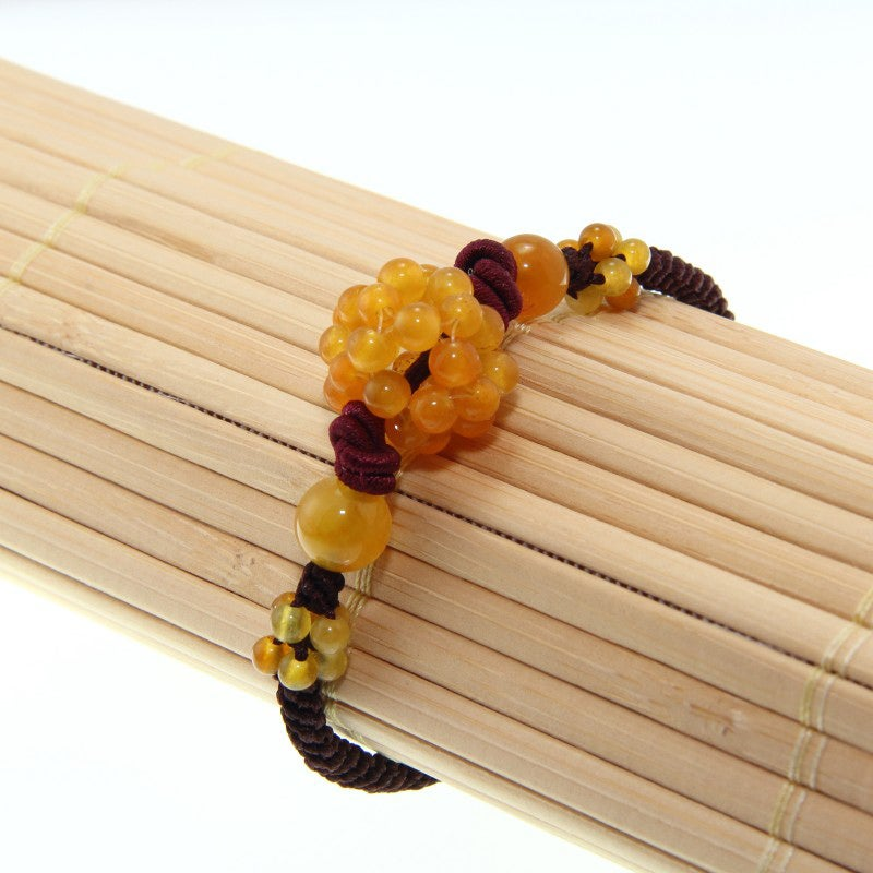 Yellow Jade Beaded Bracelet (China) - Thumbnail 0
