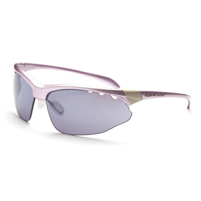 Optic Nerve Women's Squeezebox Shiny Pearl Pink Interchangeable Sunglasses
