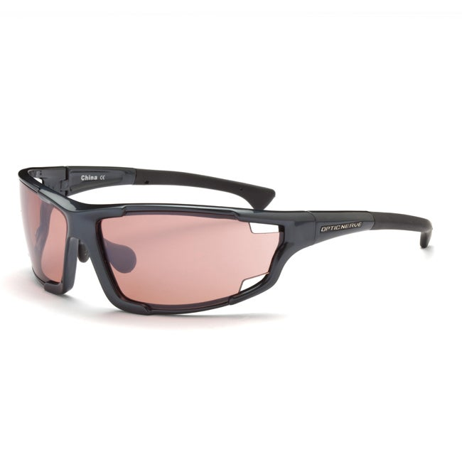 Optic Nerve Men's Autovaughn EX Shiny Carbon Interchangeable Sunglasses