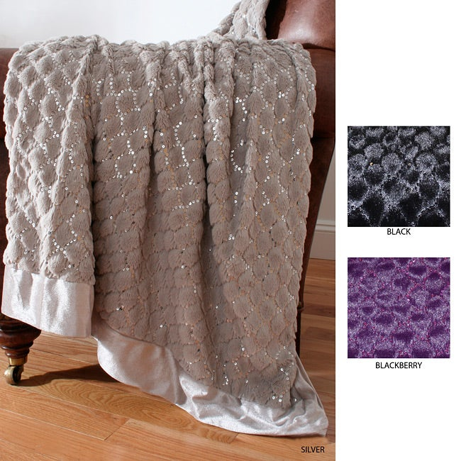 Genie Sequin Scale Throw
