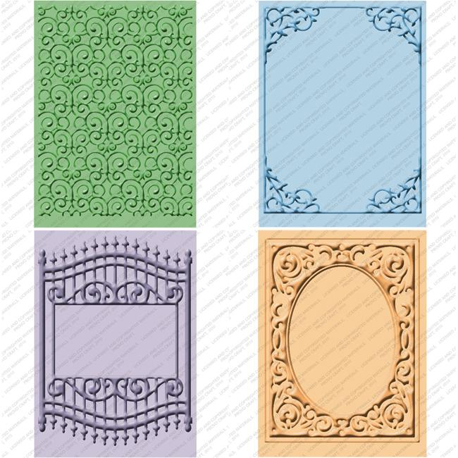 Provo Craft Cuttlebug Cricut Companion Embossing Folder 4-piece Package