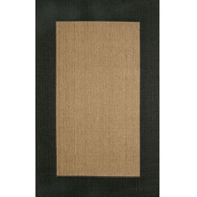 Black Border Rug 7 10 X 9 10 Free Shipping Today