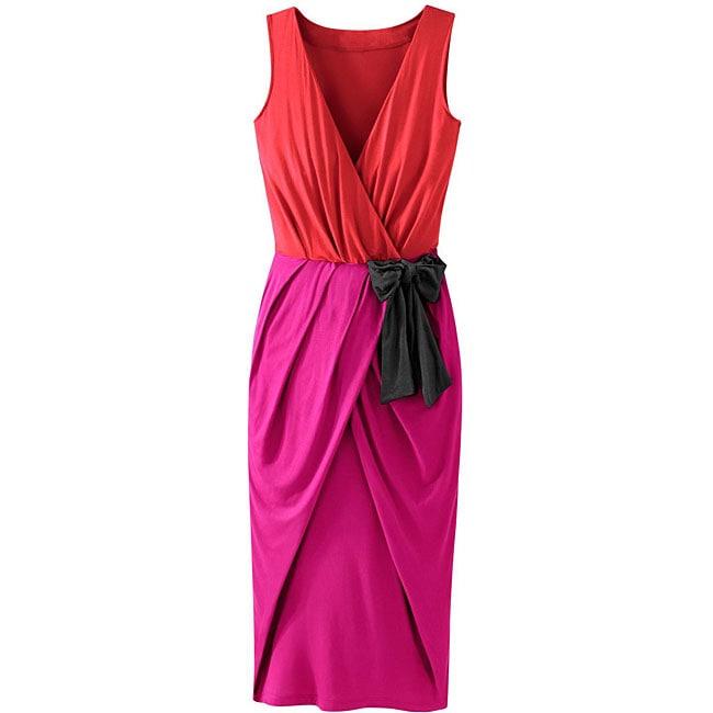 Shop Spiegel Signature Collection Colorblock Jersey Dress Free