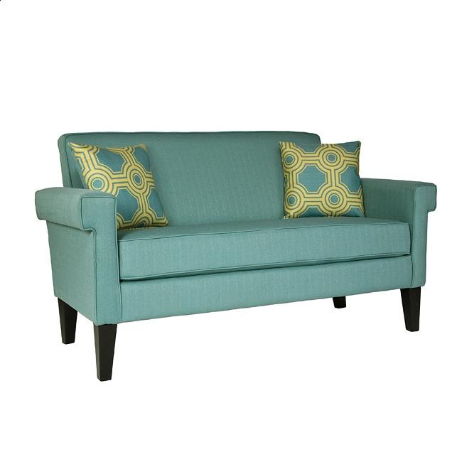 Handy Living Ennis Shoreline Aqua Blue Sofa