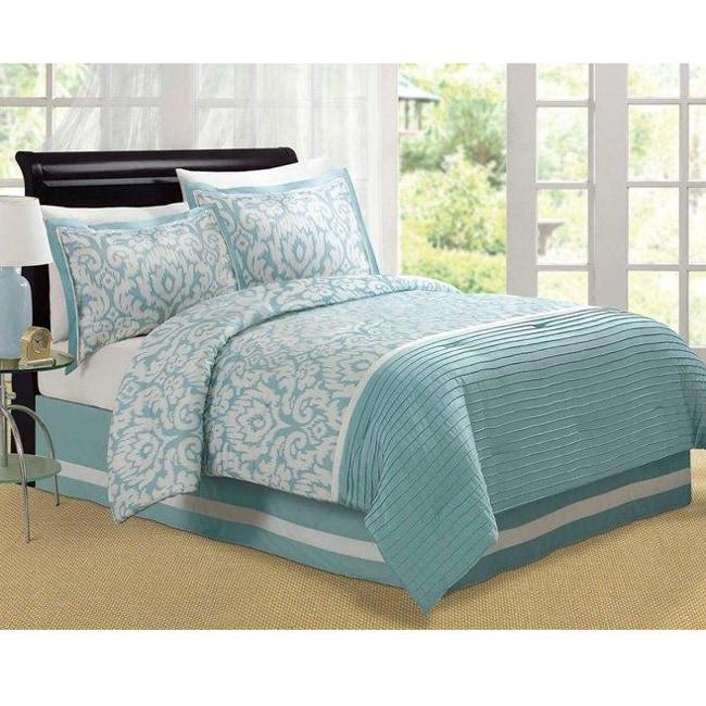 Jasmine Aqua King Size Comforter Set
