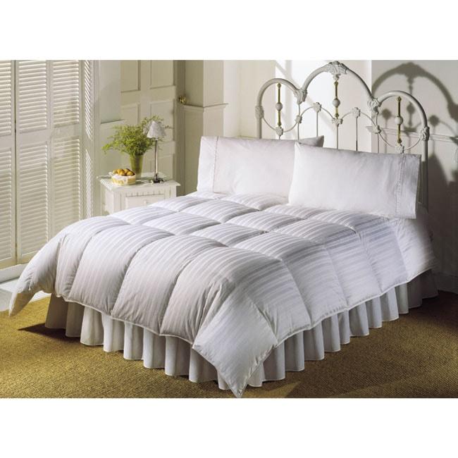 Damask Stripe Down Alternative Comforter