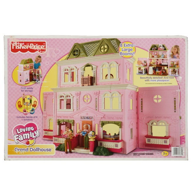 Fisher Price Loving Family Grand 8 Room Dollhouse Free Shipping Today 13133169