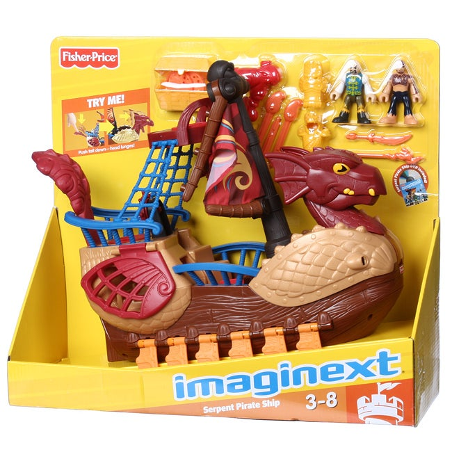 Fisher Price Imaginext Serpent Pirate Ship Play Set