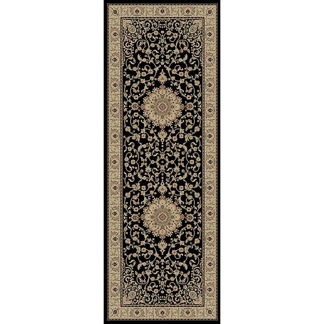 Shop Kingston Black Oriental Rug (2'7 X 7'3)