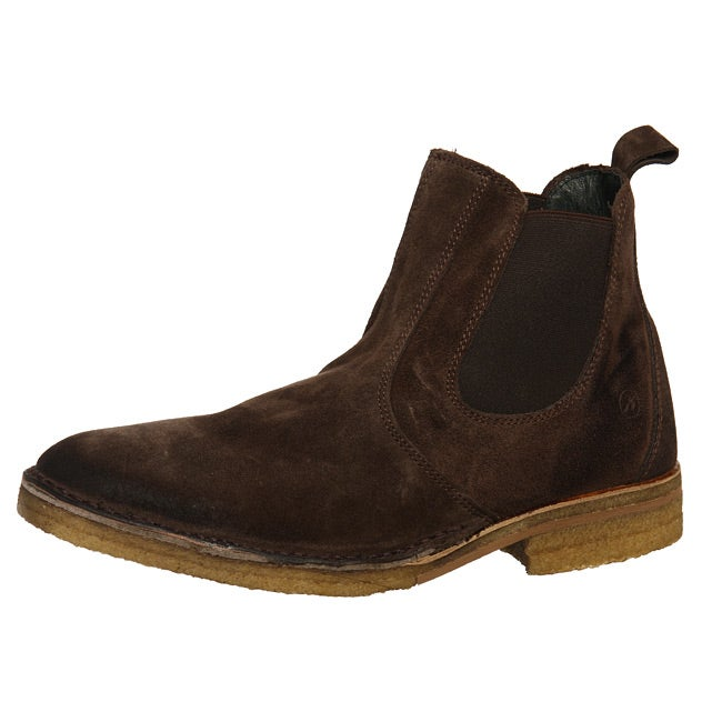 quality design 5289c be19f Bronx Men's 'Jesse' Brown Double Gore Distressed Suede Ankle Boots