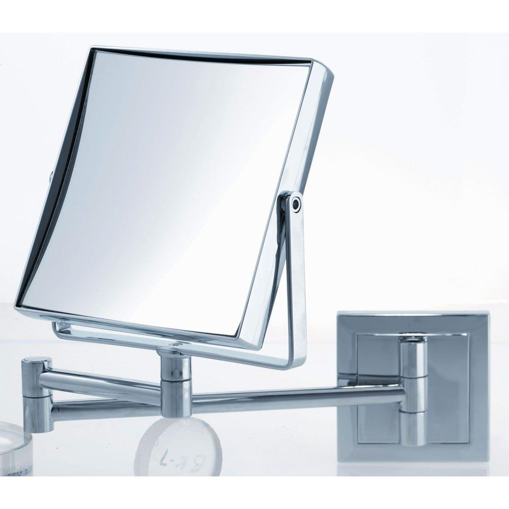 Shop Danielle 1x 5x Square Chrome Wall Mount Mirror Free