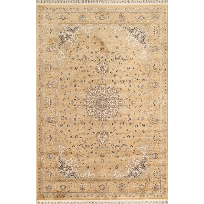 Mosaic Peach Oriental Rug (5'3 x 7'8)