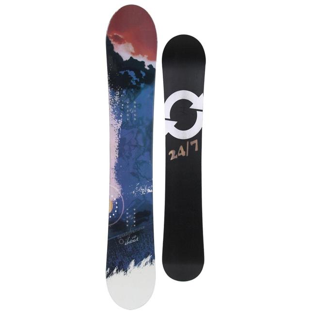24 Seven Women's Black 'Abstract' 152-cm Snowboard